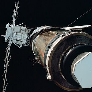 "Skylab 2 - View during a ""fly around"" inspection"