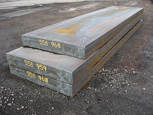 Semi-finished casting products - Image: Slabs stack