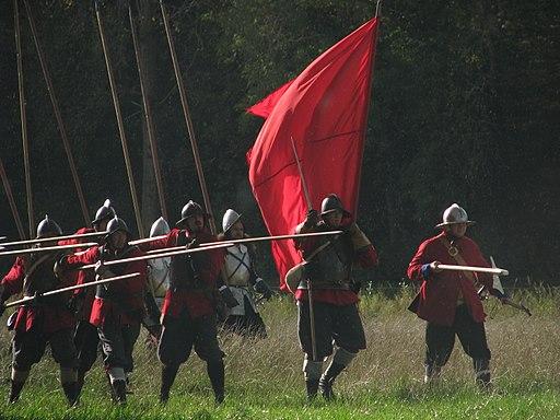 Slag om Grolle 2008-1 - Spaanse piekeniers rukken op