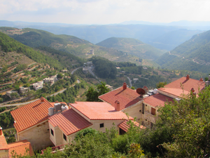 Geography of Syria - Slinfah, located in the Syrian Coastal Mountain Range