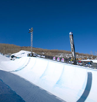 Superpipe - Side view of a snowpipe