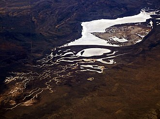 Soda Lake (San Luis Obispo County) - Aerial view of Soda Lake