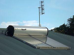 Solar hot water in Australia - Rooftop panel in Laidley, Queensland, 2015