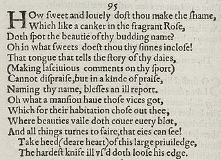 Sonnet 95 poem by William Shakespeare