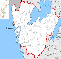 Sotenäs kommunes beliggenhed i Västra Götalands amt