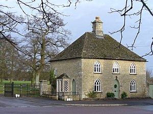 Ernest Cook - South Lodge, at the entrance to Fairford Park, one of Ernest Cook's estates in Gloucestershire