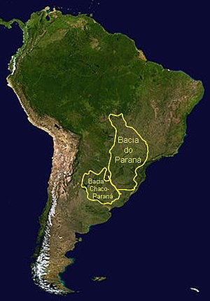 Paraná Basin - Outline of the Paraná and Chaco-Paraná Basins