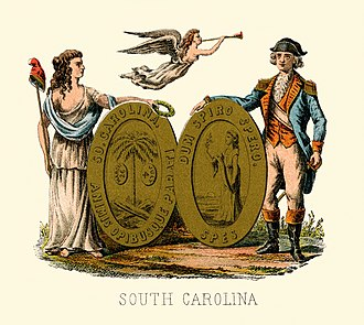 Seal of South Carolina - Historical coat of arms (1876)