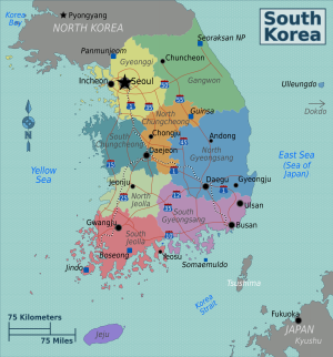 Resultado de imagen para mapa corea del sur