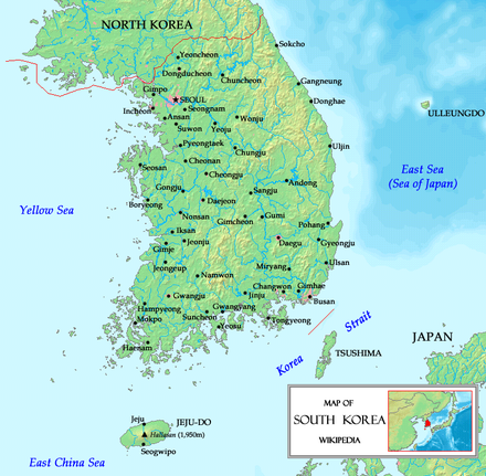 Map of South Korea Southkoreamap.png