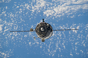 Soyuz TMA-12M - Soyuz TMA-12M approaches the ISS, 27 March 2014.