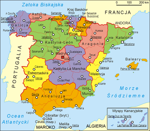 Spain administrative map PL.png
