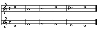 Un esempio di contrappunto di prima specie (play MIDI[?·info])