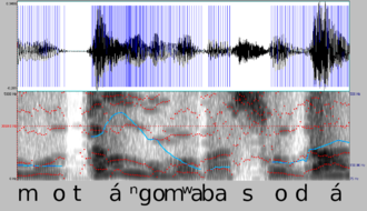 Praat - Image: Spectrogram motángo mwa basodá