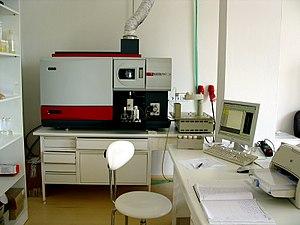 Inductively coupled plasma atomic emission spectroscopy - ICP atomic emission spectrometer.