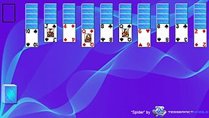 Spider (solitaire) - This is a screenshot of the solitaire game Spider layout.
