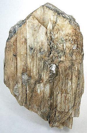 Spodumene - Walnut Hill Pegmatite Prospect, Huntington, Hampshire County, Massachusetts, US (Size: 14.2 x 9.2 x 3.0 cm)