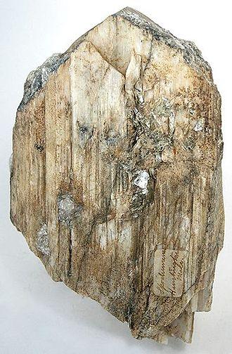 Spodumene - Walnut Hill Pegmatite Prospect, Huntington, Hampshire County, Massachusetts, US (Size: 14.2 x 9.2 x 3.0 cm)