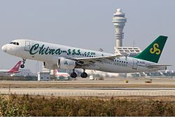 Airbus A320-200 der Spring Airlines