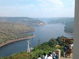 Srisailam Dam and River Krishna