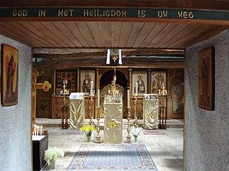 Hubertus - Image: St.Hubert, NL, kerk in het russisch orthodox klooster St.Elias