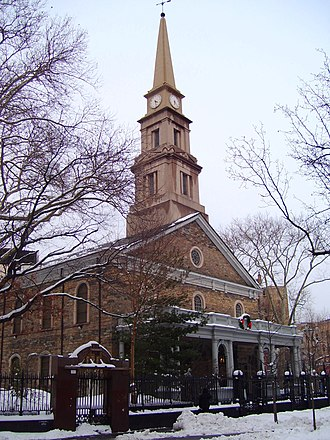 St. Mark's Historic District - Image: St. Marks Church in the winter