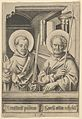 St. Simon (?) and St. Matthew, from The Apostles MET DP841613.jpg