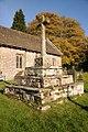 St Aeddan Bettws Newydd, Churchyard cross - geograph - 3221718.jpg