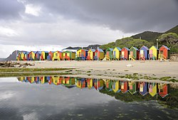 Beach huts in St James