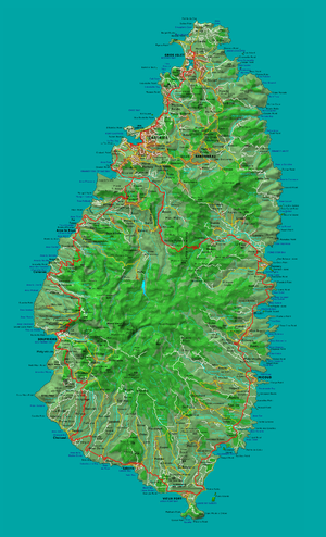 Geography of Saint Lucia - Map of Saint Lucia.