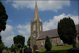 Loughbrickland - Image: St Mellon's parish church, Loughbrickland geograph.org.uk 460621