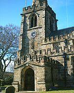 St Michael's church in Hathersage.