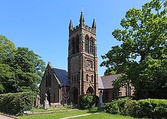 Halewood - Image: St Nicholas church, Halewood 1