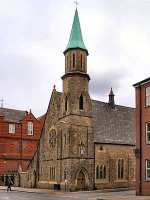 St Patrick's Church, Bolton - Image: St Patrick's Catholic Church geograph.org.uk 1708989