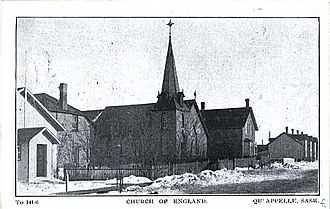 Adelbert Anson - St Peter's, Qu'Appelle, circa 1920s when still with the pro-cathedral status given by Anson