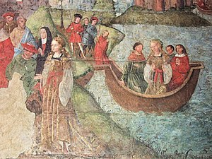 Basilica of Saint-Quentin - Medieval fresco