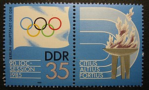 English: 1985 International Olympic Committee ...