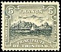 Stamp of the Principality of Trinidad 1893 5f.jpg