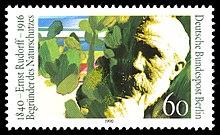 Ernst Rudorff-Briefmarke, 1990 (Quelle: Wikimedia)