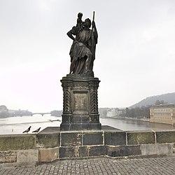 Statue of Saint Christopher on Charles Bridge, 2014-03-06.jpg
