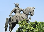 Statue of Shivaji on his horse.jpg