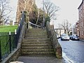 Steps to elevated footpath, Stow Hill, Newport - geograph.org.uk - 1596172.jpg