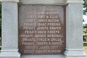 Stillman's Run Battle Site - Another inscriptions lists the dead at Stillman's Run.