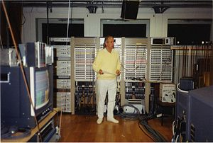 Studio for Electronic Music (WDR) - Karlheinz Stockhausen in the WDR Electronic Music Studio in 1991