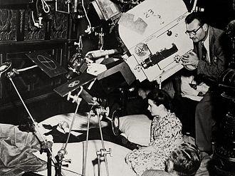 Ray June - Ray June (right), filming The Secret Garden, 1949