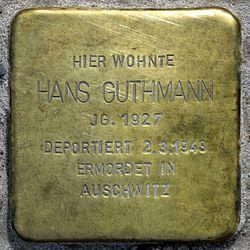 Photo of Hans Guthmann brass plaque