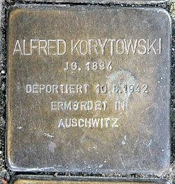 Photo of Alfred Korytowski brass plaque