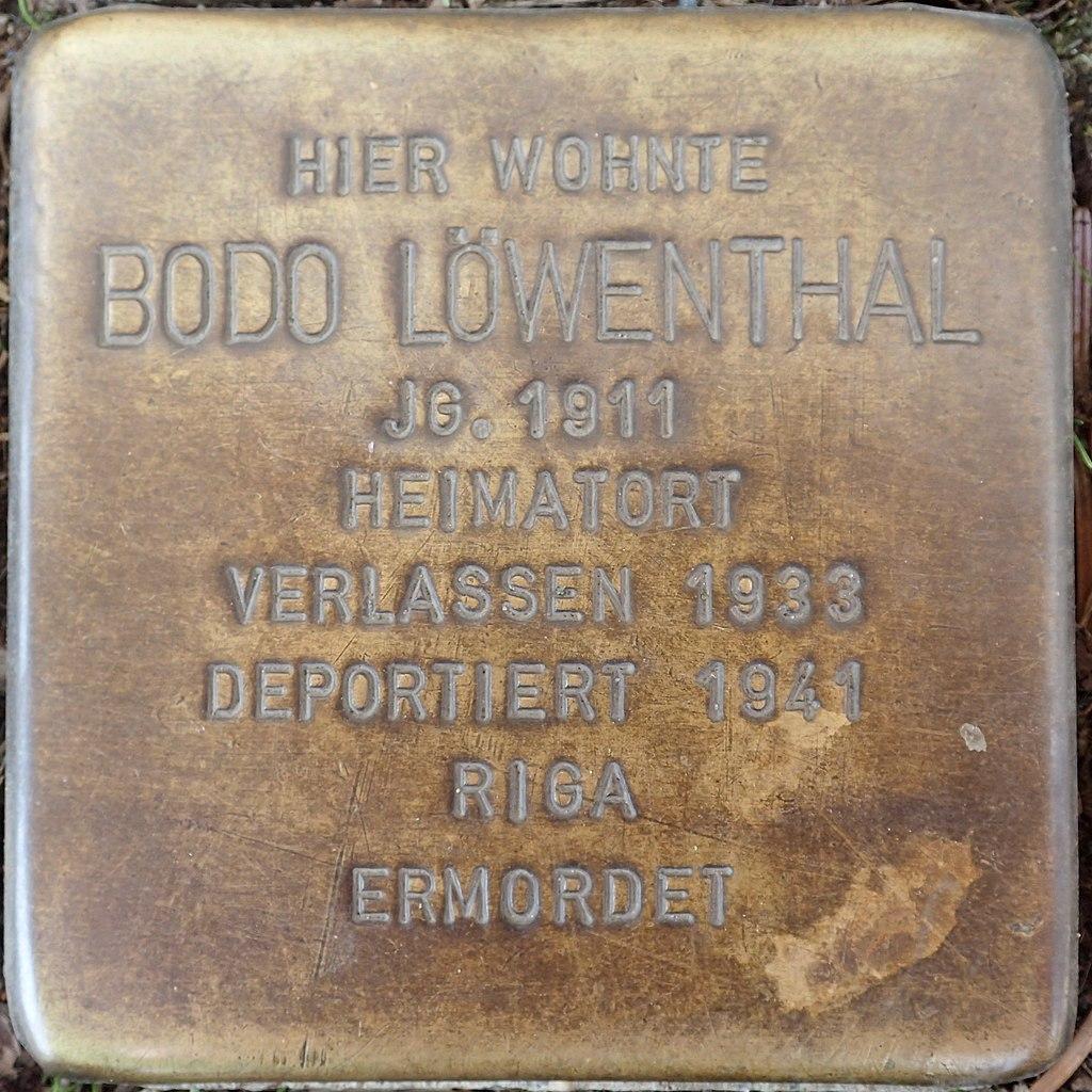 Stolperstein Duderstadt Marktstraße 9 Bodo Löwenthal