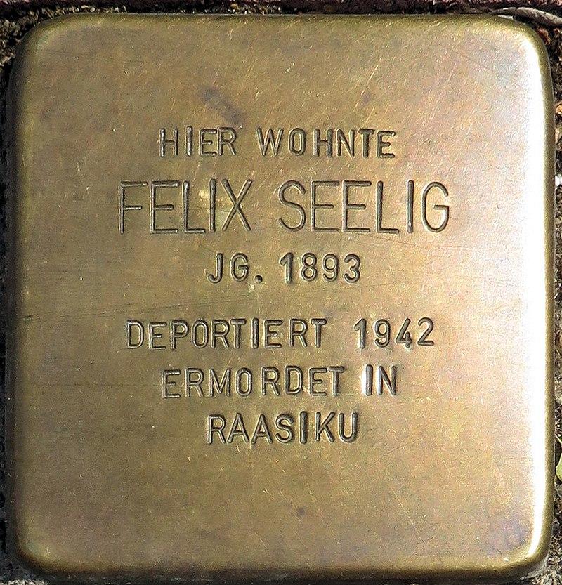 Stolperstein Hessestraße 30 Felix Seelig