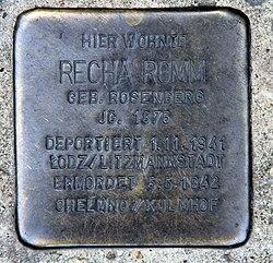 Photo of Recha Romm brass plaque
